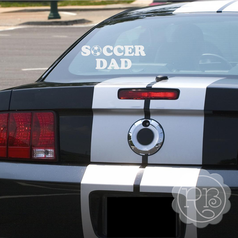 SOCCER DAD Vinyl Car Decal