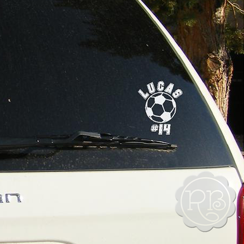 SOCCER Personalized Car Decal