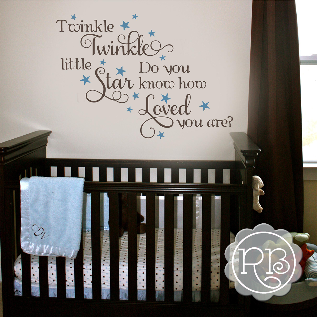 twinkle twinkle little star wall decal rock a baby wall quotes twinkle twinkle little star nursery wall decal