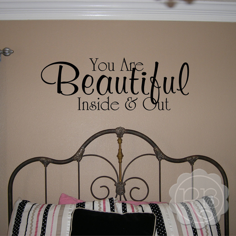YOU ARE BEAUTIFUL Girl's Wall Decal