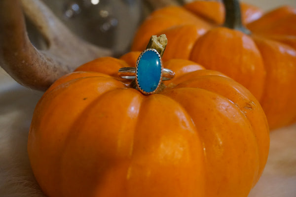 Turquoise Stacker Ring, Size 5 1/2