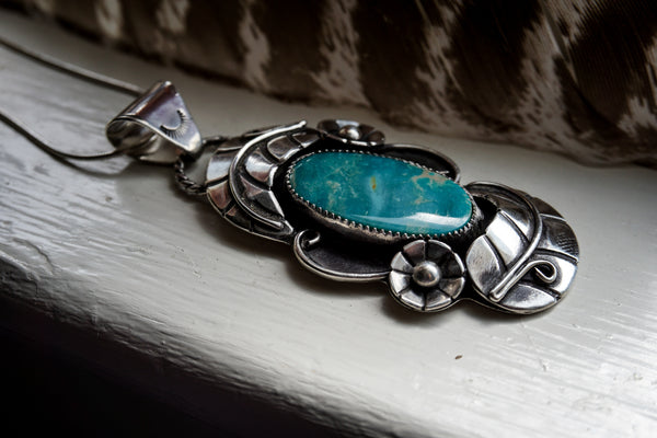 Woodland Portal Necklace Royston Turquoise