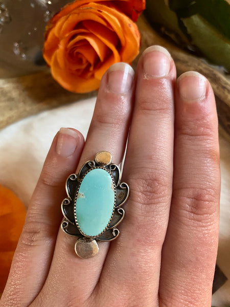 Pilot Mountain Turquoise Ring Size 6