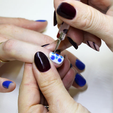 Blue Marble Nail Art Step By Step Instructions Bio Sculpture Gb