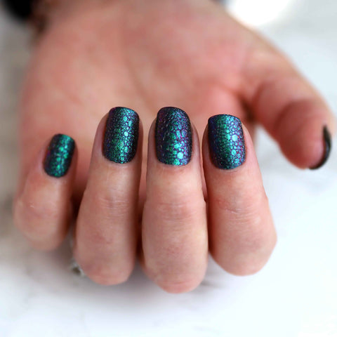 Galaxy Bubble nail manicure