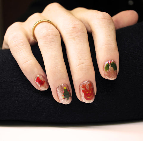 Christmas Nail Art Competition 2017 Bio Sculpture Gb