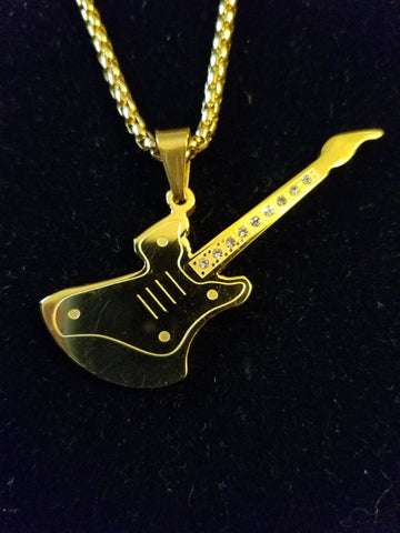 Afterglow92416 Guitar Necklace (Gold)