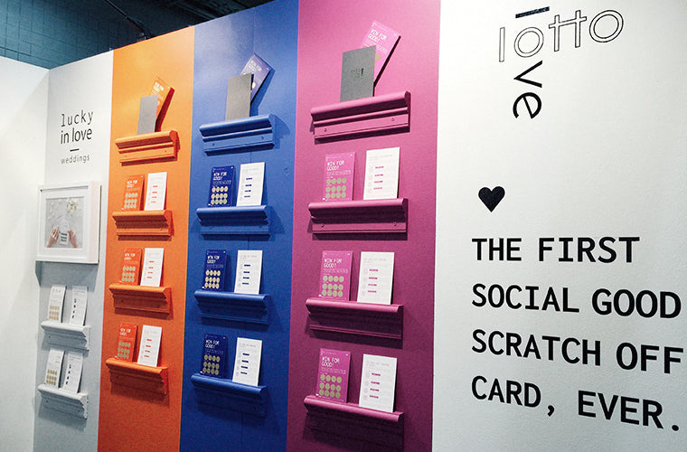 LottoLove Booth at the National Stationery Show | Socially Conscious Companies