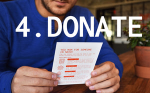 Donate with LottoLove Scratch off Cards