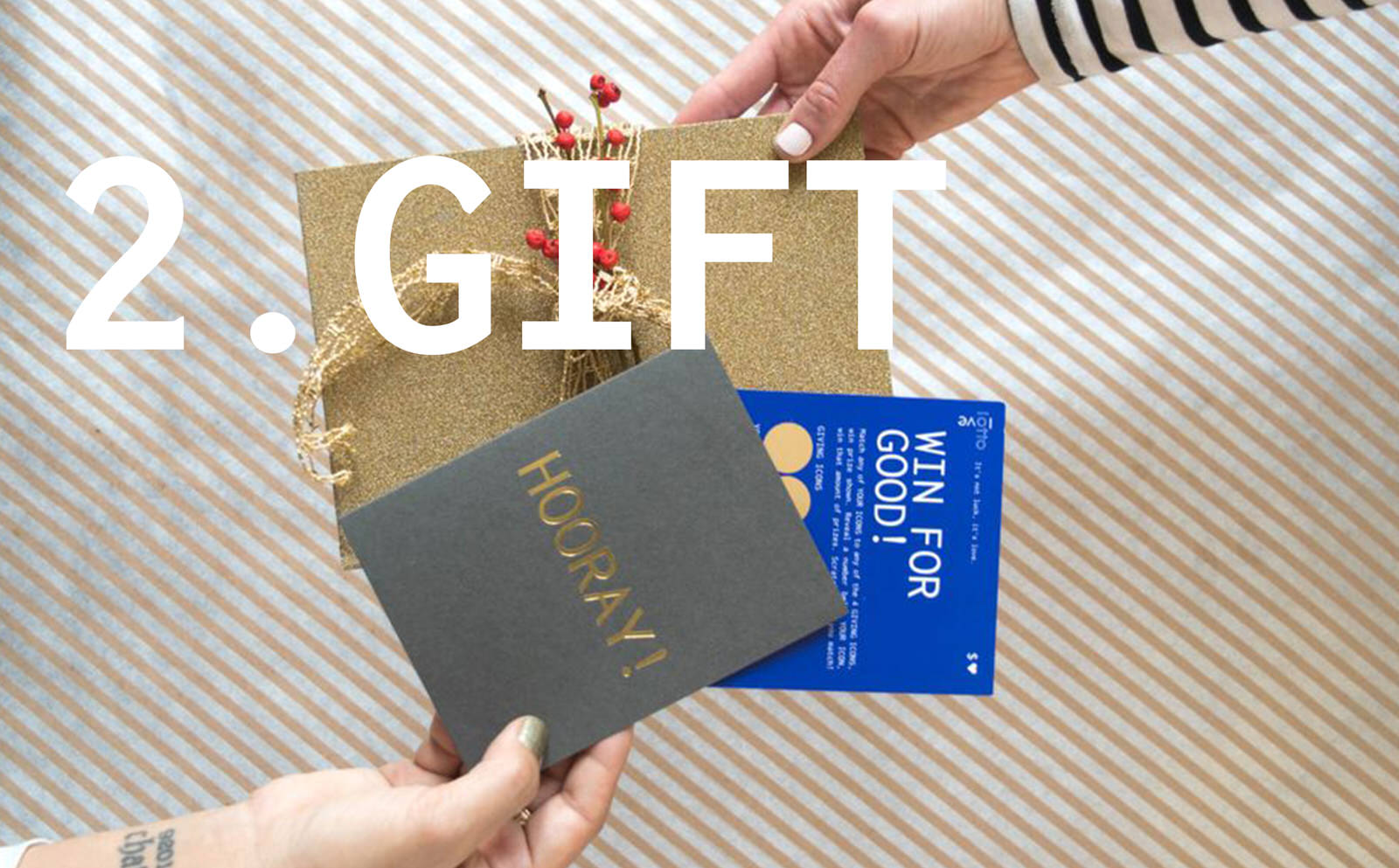 Gifting LottoLove Scratch off Cards with greeting card