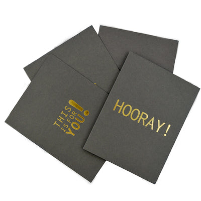8 pack- Gold Foil Greeting Cards