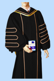 Deluxe Black Velvet Doctoral Gown