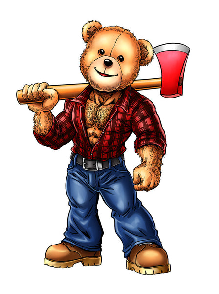 Bearded Shirts • Lumberjack Eddi Bear Shirt
