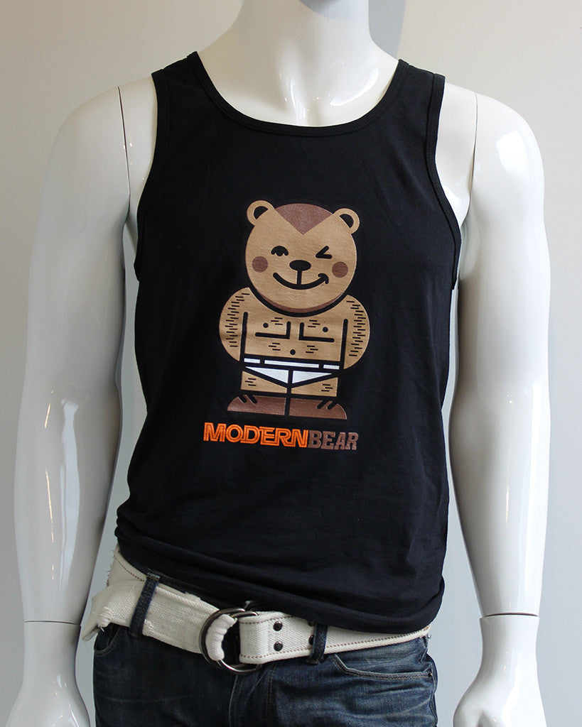 ModernBear Avatar Tank Top • Muscle Bear • Black