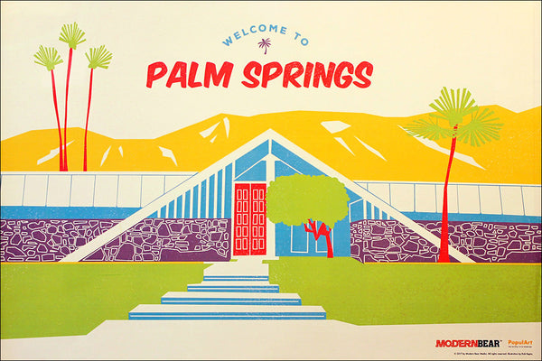 ModernBear Welcome to Palm Springs Poster