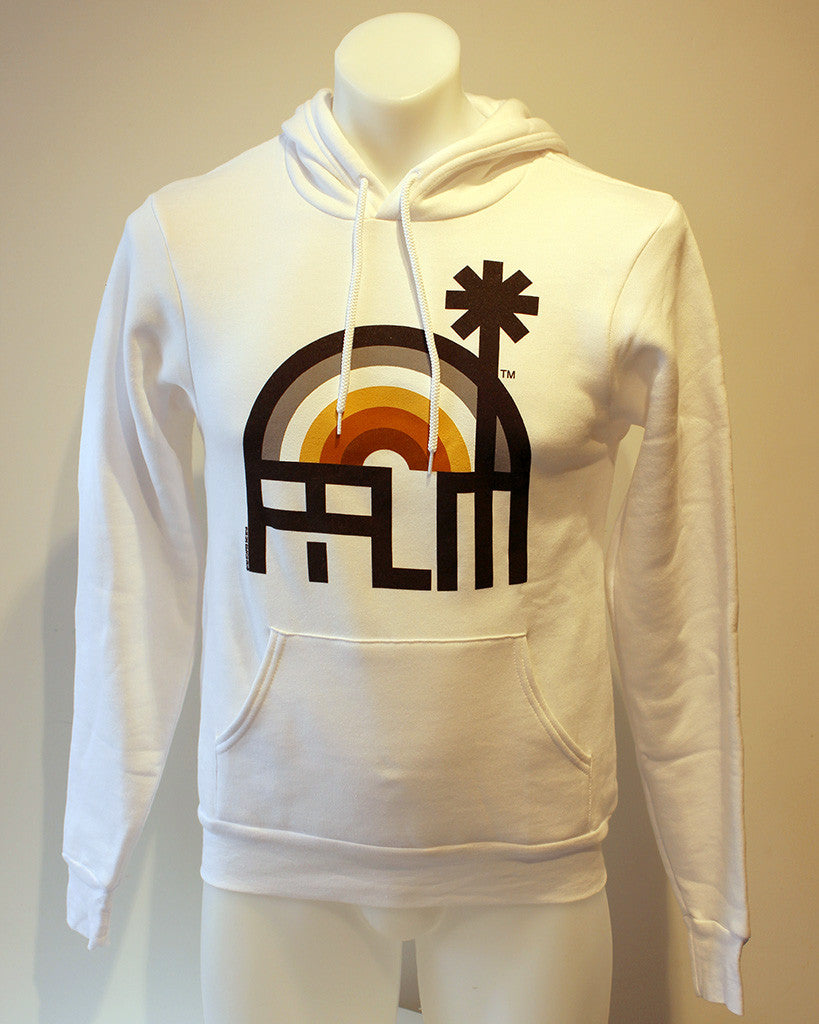 Tim-Scapes Pullover Hoodie • Palm Springs Bear Limited Edition • White