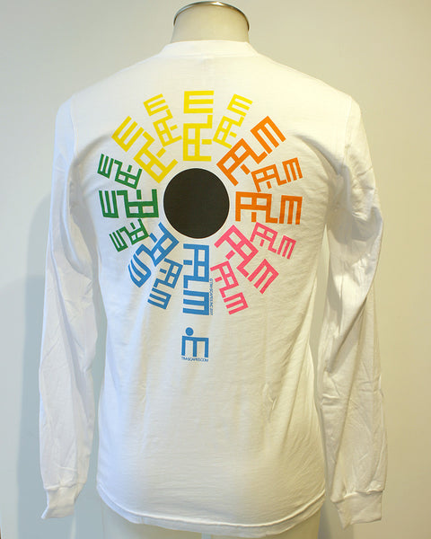 Tim-Scapes Long-Sleeve T-Shirt • Palm Springs Modernism • White