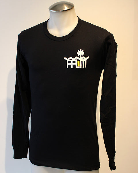 Tim-Scapes Long-Sleeve T-Shirt • Palm Springs Modernism • Black