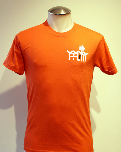 Tim-Scapes T-Shirt • Palm Springs Modernism • Orange