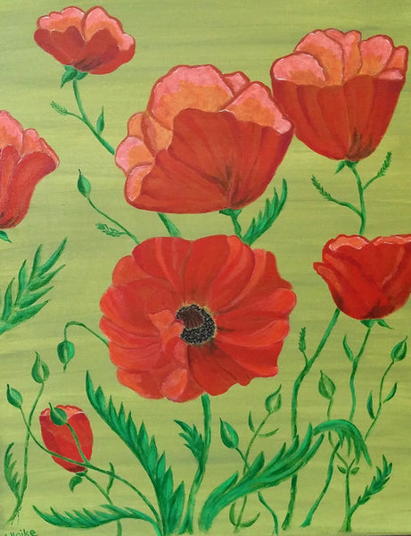 Ulrike Greeting Card • Poppies for Petra