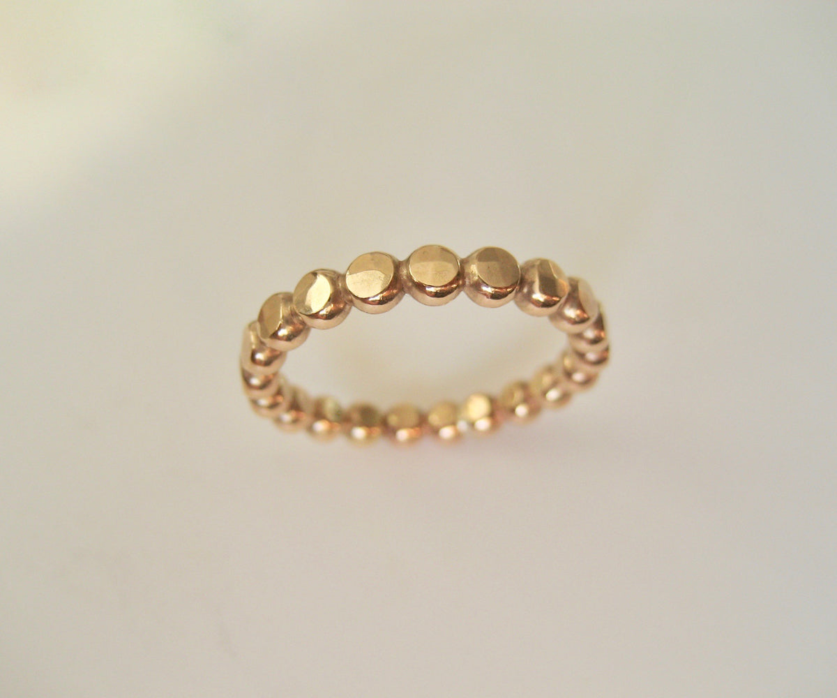 3 mm bred guld ring hamrad 14k gold filled ring eller Sterling Silver