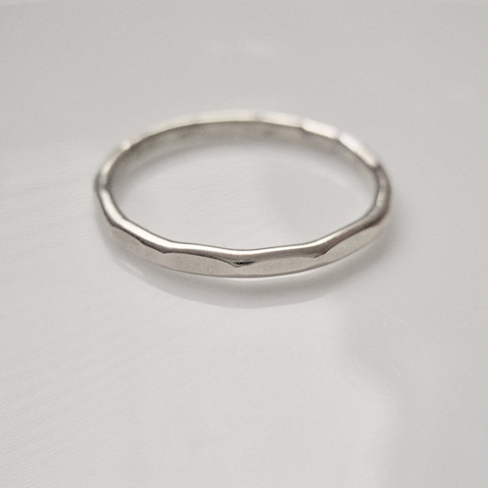 Sterling silver hamrad ring