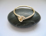 Hand i hand ring 14k gold filled