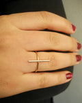 Bar ring i 14k gold filled eller Sterling silver