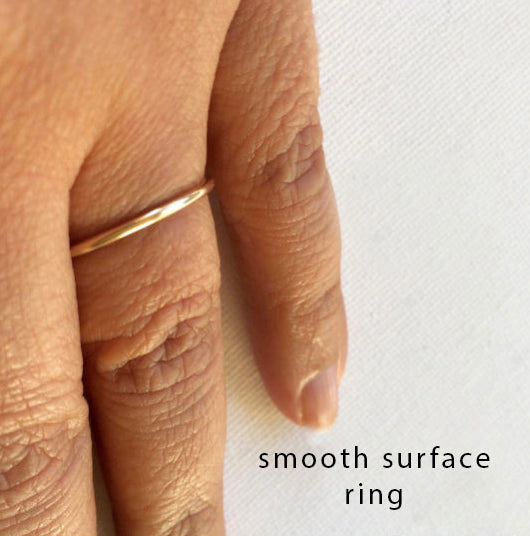 Slät tunn ring i 14k gold filled