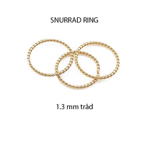 Snurrad ring 14k gold filled, twist ring, tumring, unisex ring