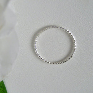 Snurrad ring Sterlingsilver, twist ring, tumring, unisex ring
