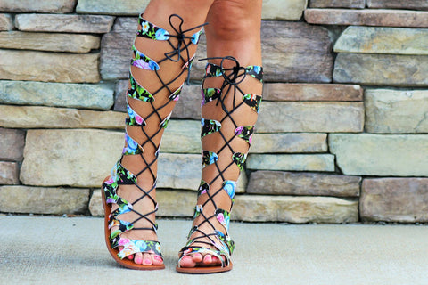 Rock Your World Black Multi Gladiators