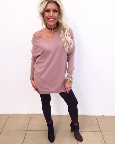 Can't Cross Paths Blush Sweater