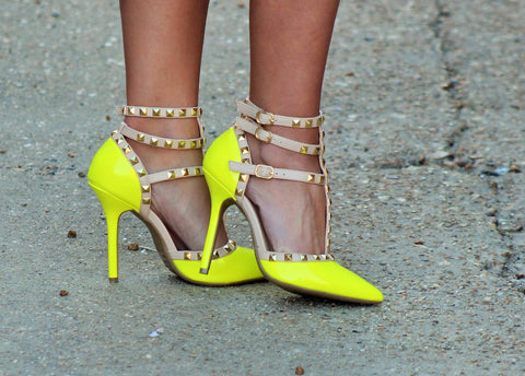 Non-Stop Gorgeous Neon Yellow Heels