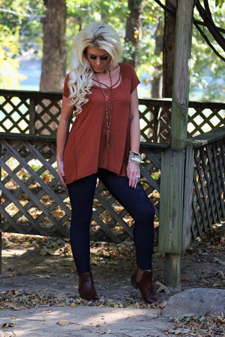 Hummingbird Lane Rust Tunic