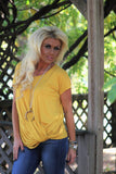 Feelin' Fall Mustard Top