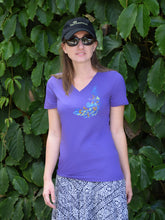 Women's Peacock v-neck t-shirt