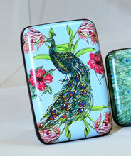 Peacock feathers armored wallet