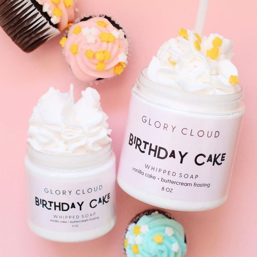Glory Cloud USA - Whipped Soap - Birthday Cake
