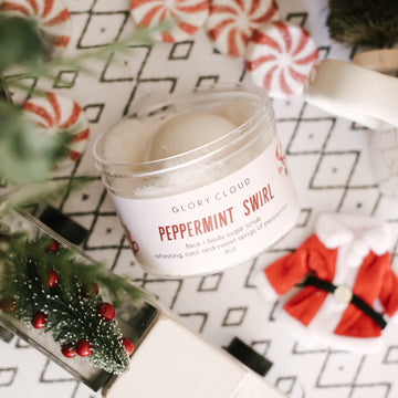 Peppermint Swirl - Cloud Scrub
