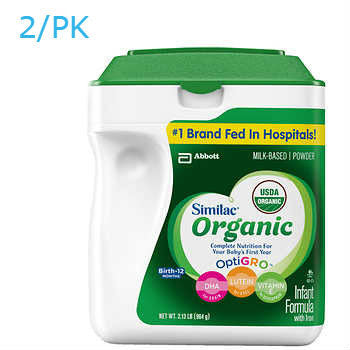 Similac Organic Infant Formula 2ct/34oz