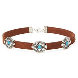 Chic Brown Leather Choker