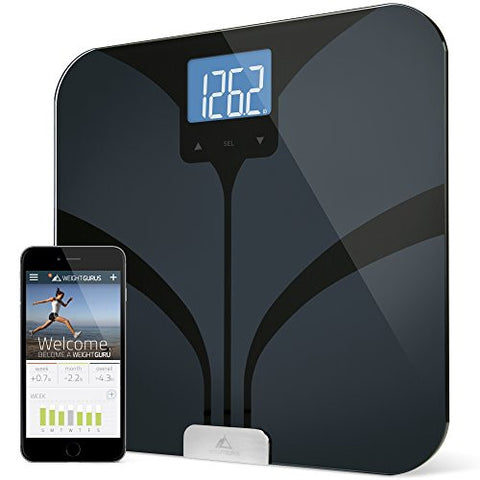 Weight Gurus Bluetooth Smart Connected Scale (Black)