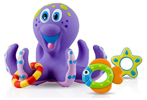 Nuby Octopus Hoopla Bathtime Fun Toys, Purple - 1 pack