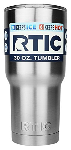 Rtic Coolers 30 oz. Stainless Steel Double Vacuum Insulated Tumbler Bottle, Silver