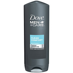 Dove Men+Care Body and Face Wash, Clean Comfort 18 oz, Pack of 3