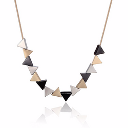 Triangle Shaped Pendant Necklace