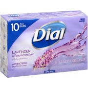 Dial Lavender & Twilight Jasmine Antibacterial Deodorant Bar Soap, 4 oz, 10 count