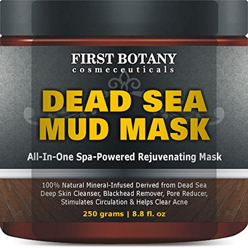 100% Natural Mineral-Infused Dead Sea Mud Mask 8.8 oz for Facial Treatment