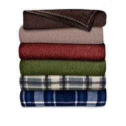 Sunbeam Fleece Heated Throw, Assorted Colors and Patterns